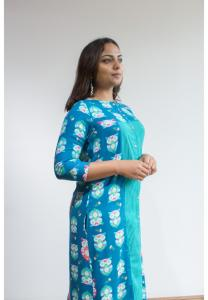 Ruky Fareen Women Long Top Flair Kurti Full Sleeve - RF 210 - XL
