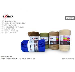 Eximo Blanket 200X230 1.1KG Shear Plush 2ply, EXBL7539