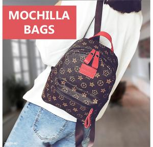 Mochila School Bags For Teenagers Girls Top-Red Handle Backpack