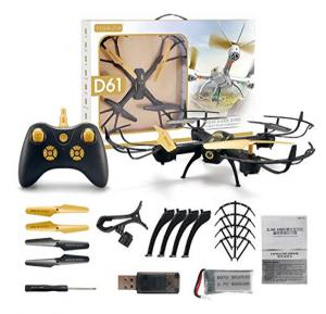 HAPPYTOYS D61 Altitude Hold Mini Drone with Camera Real-time Transmission Wifi FPV Quadcopter RC Helicopter