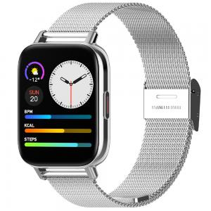 Xcell G3 Talk IP67 Water Resistance Smartwatch, Steel Silver