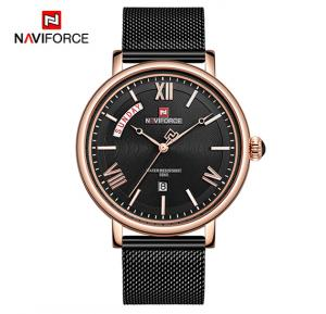 Naviforce NF3006 Quartz Fashion Luxury Watch for Men- Black