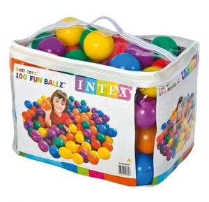 Intex-Fun ballz  (Ball-100pcs), Ages 2+, Carry Bag,49600