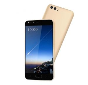 Crescent Wing 7 4G Smart Phone, 5 Inch HD Display, Android 6.0 OS, 1GB RAM, 8GB Storage, Dual SIM, Dual Camera - Gold