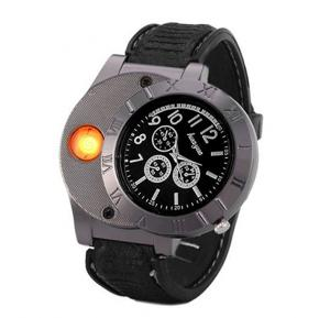 Huayue  Quartz Watch For Men Electronic Lighter LED Lighters 2 in 1