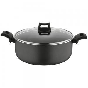 Black & Decker BXSCP24BME 24cm Non Stick Casserole Dish With Lid