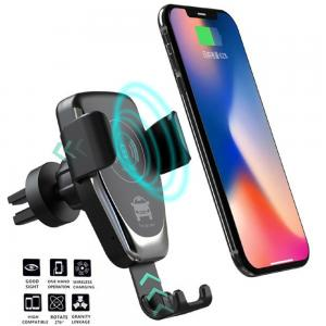 Car Mobile Holder With Fast Wireless Automatic Charging for all Qi cirtified Mobiles