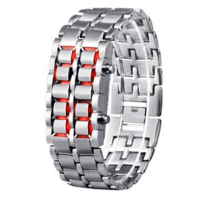 Lava LED Electronic Male Lovers Watches Volcanic Eruptions - Silver