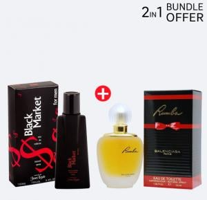 2 in 1 Perfume Pack of Shirley May Black and Rumbari, Black