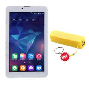 BSNL A13 tablet with free Mobile Power Bank, 4G LTE, Android 4.2, 7.0 Inch Display, 1GB RAM, 8GB Storage, Dual Camera, Dual Sim, Gold