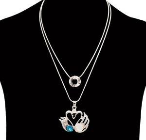Fashion Jewelry diamond love design Necklace NO.FJ-412
