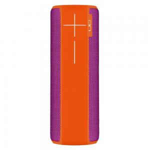 Logitech Ultimate Ears Boom 2 Wireless Bluetooth Speaker Waterproof And Shockproof Purple Orange, 984-000559