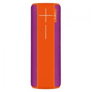 Logitech Ultimate Ears Boom 2 Wireless Bluetooth Speaker Waterproof And Shockproof Purple Orange, 984-000559