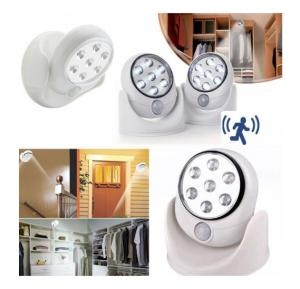 360 Rotating Cordless Motion Sensor Security Light, ZN7526 Indoor/Outdoor Usage