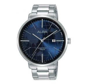 Alba Dark blue dial And Stainless steel side wrapped bracelet Analog Watch For Men AS9J83X1