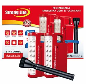 Strong Lite SGL696LED Led 2Sc 1 Flash Light 2 Emergency Light 3 In 1