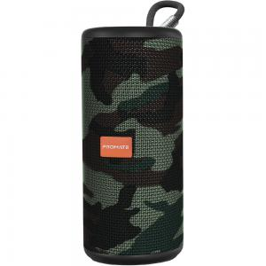 Promate Wireless Speaker, Premium 360 Degree Immersive Sound Bluetooth Speaker, PYLON.CAMOUFLAGE