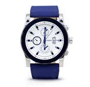 Claxton Analog Watch For Men, Blue Leather Strap With Shaded Blue - CT49025