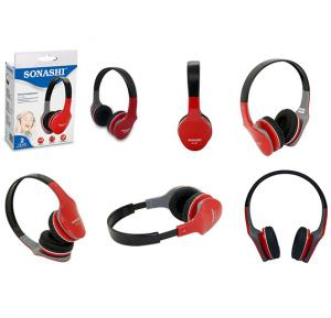 Sonashi Wired Headphone Red, HP-874
