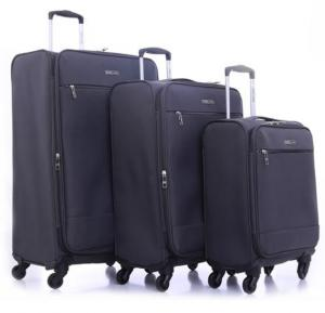 Parajohn Polyester Soft Trolley Luggage Set Gray, PJTR3110C
