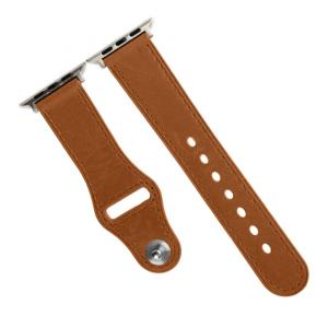 Promate Genio-42.L Leather Apple Watch Wristband 42mm/44mm, Brown