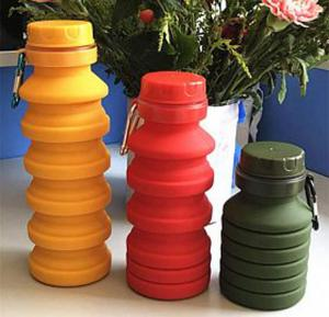 Silicon foldable water bottle, PL425