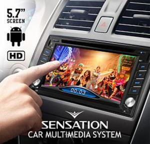 Sensation High Definition 6.2 Inches Touch Screen Android Double Din Universal Car Multimedia System, SDD-6535, 057
