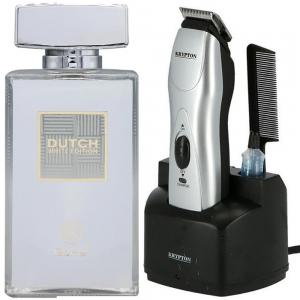 2 in 1 Saver Pack of Krypton Hair Clipper and Ruky Dutch White Perfume 80ml