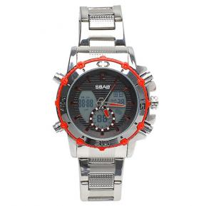 Analog Digital stainless steel mens watch, SBAO S-90010
