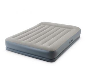 Intex Queen Mid-Rise Airbed With Fiber-Tech Bip(w/220-240V Built-in Pump) 64118