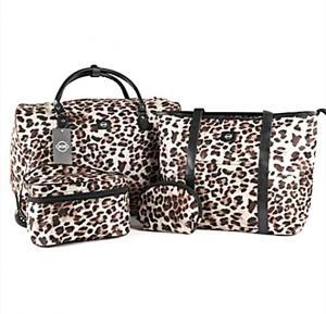 4in1 Okko Trolley Bag Color- Cheetah Print Dark Brown Doted-36411