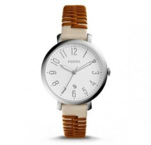 Fossil Analog Leather Casual Watch For Women - ES4209