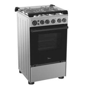 Midea Freestanding 4-Hob Gas Cooker BME55007FFD, Silver