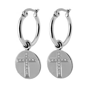 Coco88 Stainless Steel Dangle Earring, Latch Closure ,8CE-50012