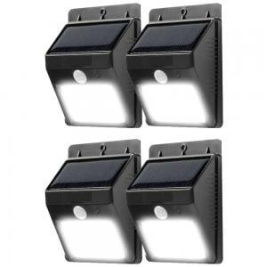 4 in 1 Solar Motion Sensor Light Black