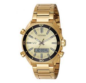 Citizen Analog-Digital Gold Dial Mens Watch, JM5462-56P