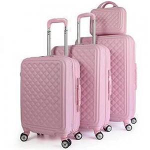 Royal Travel 4 Piece Hardside Luggage Travel Trolley Bag Set, Pink