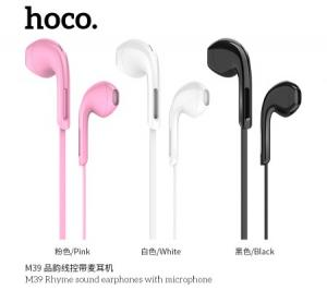 Hoco Rhyme sound earphones with microphone, Black, M39