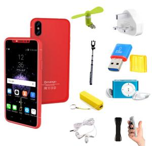 Bundle Offer Gmango I8 Smartphone, 4G LTE, 3GB RAM, 16GB Storage  Android 6.1, 5.0 Inch HD Display-Red And Get Free Power Bank + MP3 Player + Selfie Stick + Sling Grip + USB Fan + J5 Wired Headset + Card Reader Adapter +3pin Charger Adapter