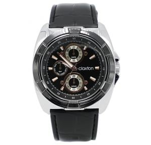 Claxton Dial Black Leather Band Watch For Men - CT3146