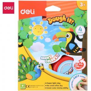 Deli Soft Clay 4 Colors, D85000