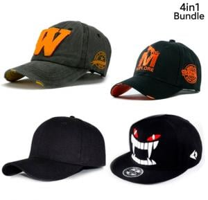 4 in 1 Men's Assorted Color Caps
