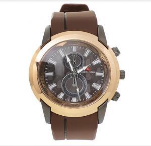 Just login fashion wrist watch for Men Brown, Royalhand