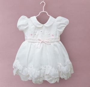 Kids Frock Party Wear White - Size 17