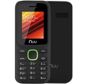 Nuu F2 32MB RAM 64MB Storage Mobile Phone without Camera - Black & Green