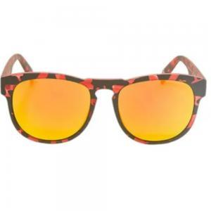 Italia Independent 0902.142.000 Unisex Wayfarer Shape Sunglasses Barble Red Acetate Frame