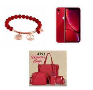 6 In 1 Offer Apple Iphone XR 128 GB + Love Bracelet + Bag (4 Pcs)