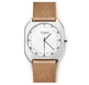 TOMI Luxury Quality Quartz Leather Watch for Women And Men T068, Light Wood