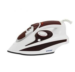 Sonashi Steam Iron With Ceramic Sole Plate -2000W Brown, SI-5017C(VDE)