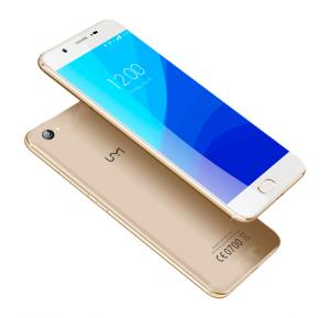 UMI C Smartphone, Android 6.0, 5.5 Inch HD Display, 2GB RAM, 16GB Storage, Dual SIM, Dual Camera, Quad Core 1.3GHz Processor- Gold